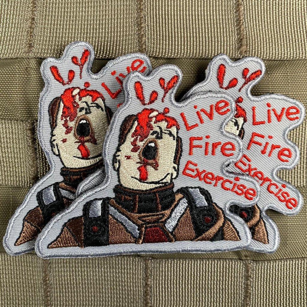 violent little machine shop live fire exercise morale patch