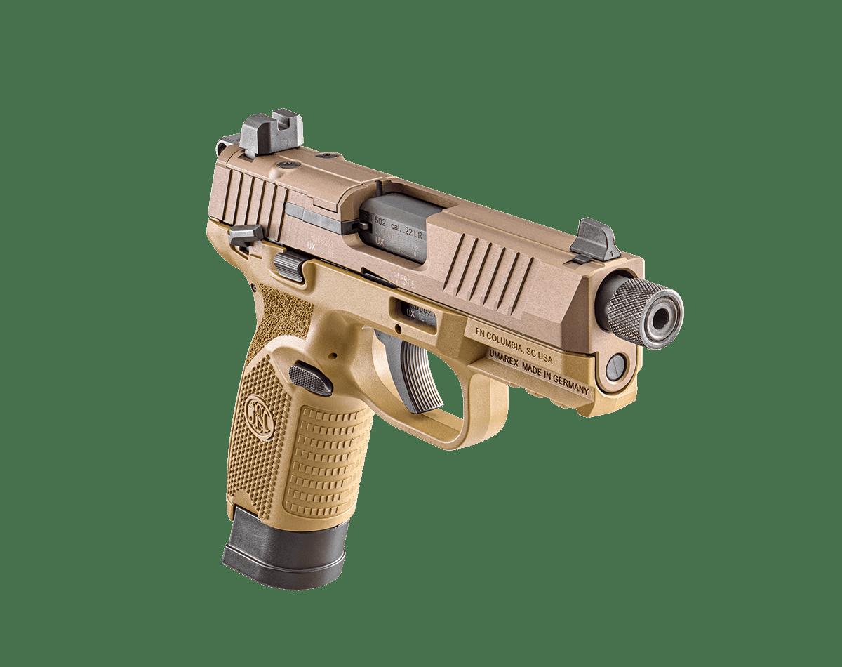 fn america fn 502 rimfire 22lr optics ready slide cut suppressor plinker