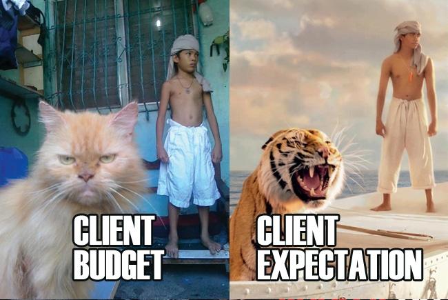 Client expectations vs client budget2