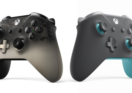 Xbox Phantom Black & Grey/Blue Controllers