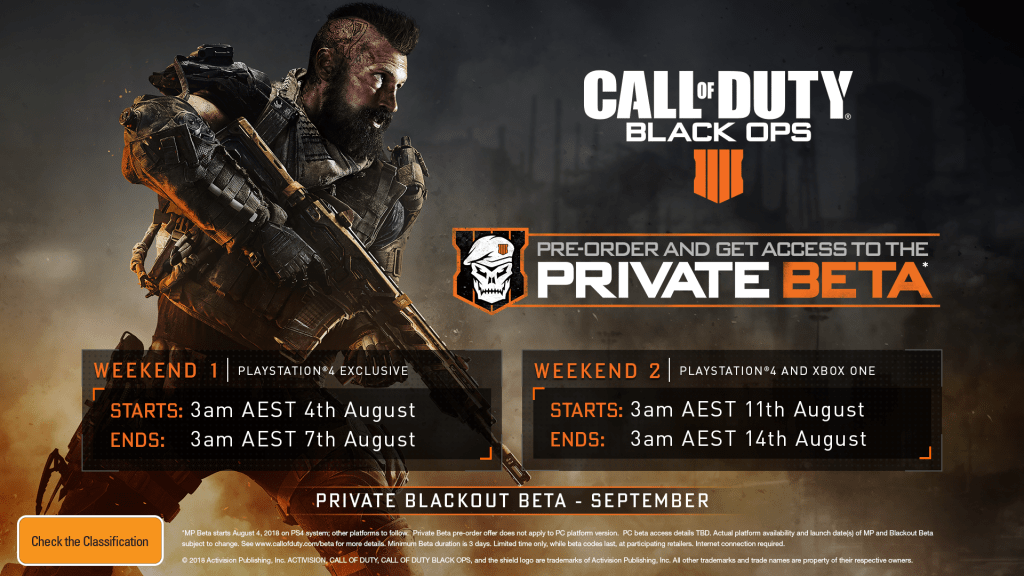 Call Of Duty Black Ops 4 Multiplayer Beta Now Live On Playstation 4