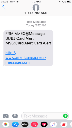 One of the most notorious smishing examples is the fake message claiming you need to check your credit card.