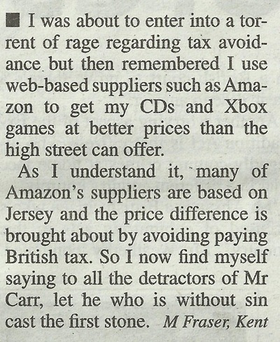 Metro Letters Jimmy Carr