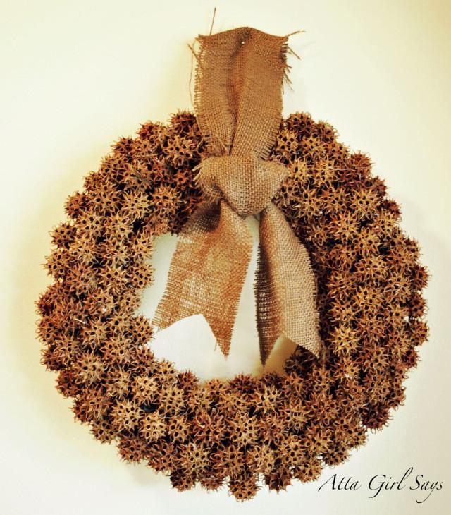 Sweet Gum Ball Wreath