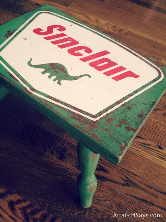 Sinclair Dinosaur Stool