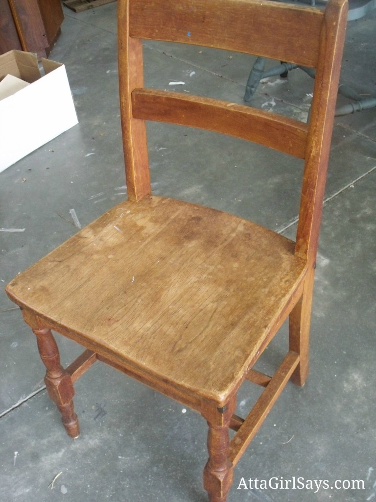 Wooden Child's School Chair by AttaGirlSays.com
