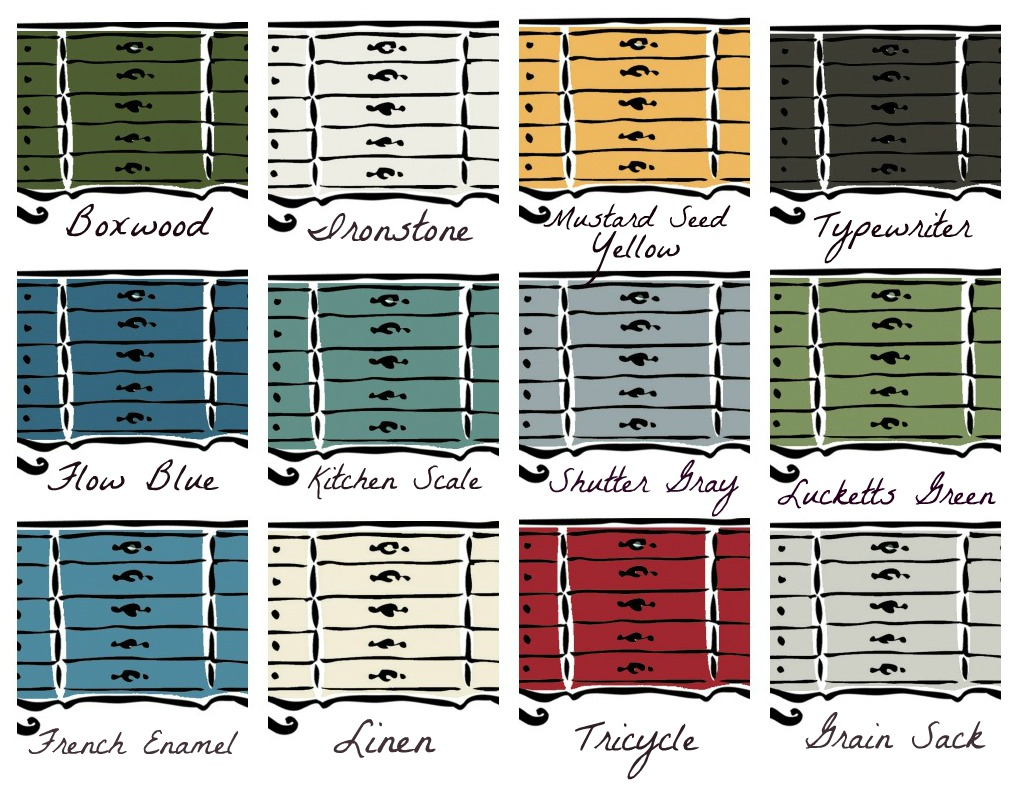 Miss Mustard Seed's Milk Paint Colors by AttaGirlSays.com