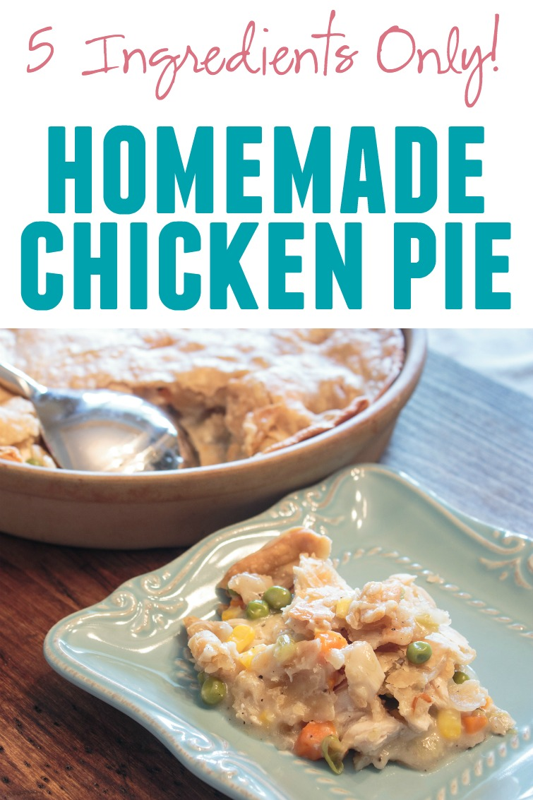 Craving comfort food? This easy chicken pot pie recipe is the answer. You need only 5 ingredients and about 30 minutes to make it.