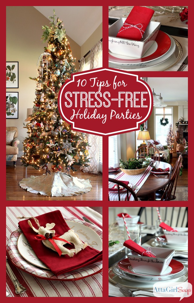 10 Tips for Stress-Free Holiday Parties and Entertaining