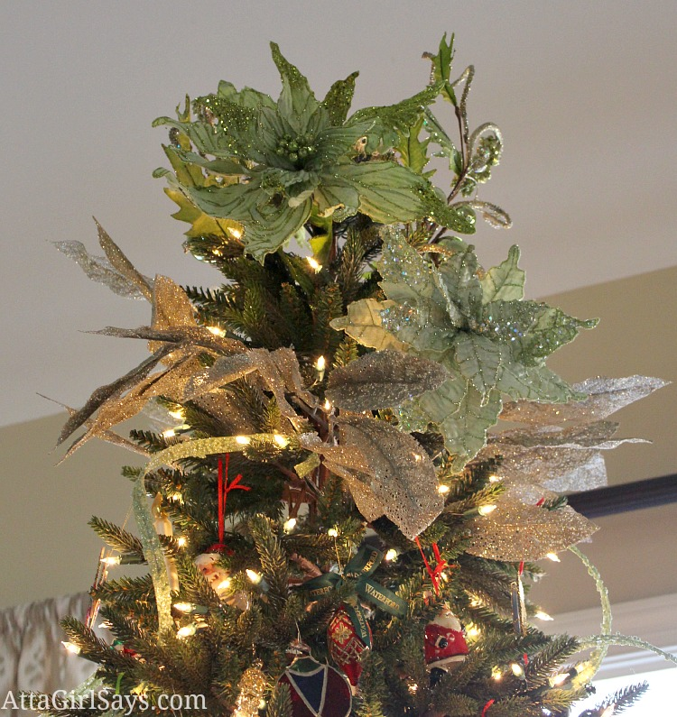 Floral Christmas tree topper by AttaGirlSays.com
