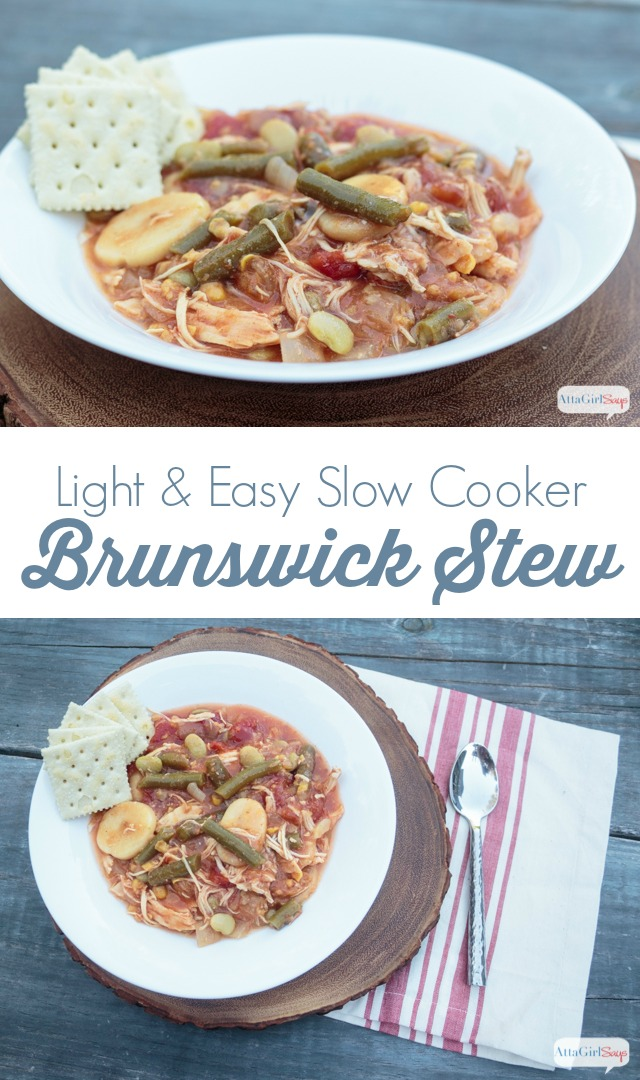 No stirring or pot watching necessary with this easy slow cooker Brunswick stew recipe. Make some for a crowd or freeze it!