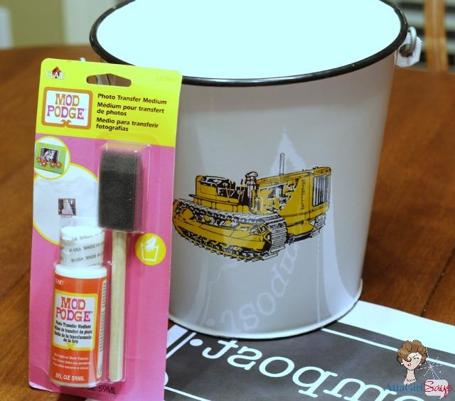 French enamel compost bucket