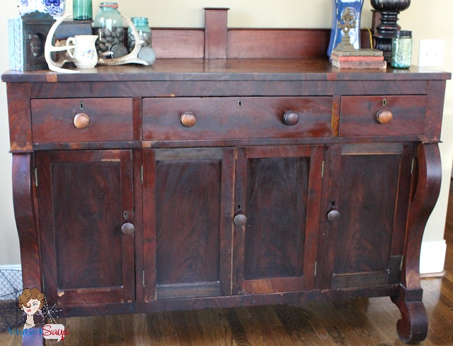 antique empire sideboard estate sale find