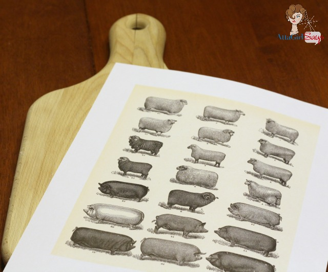 wooden cutting board photo transfer project