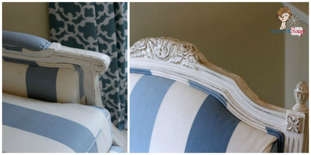 Atta Girl Says Blue and White Striped French Chairs