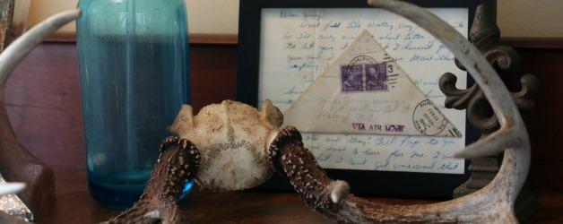 Antlers Seltzer Bottle and World War II letter