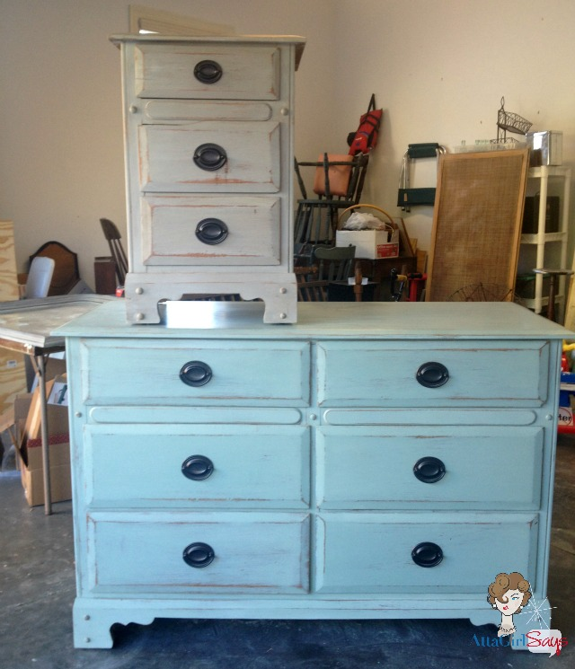 La Craie nightstand and dresser makeover