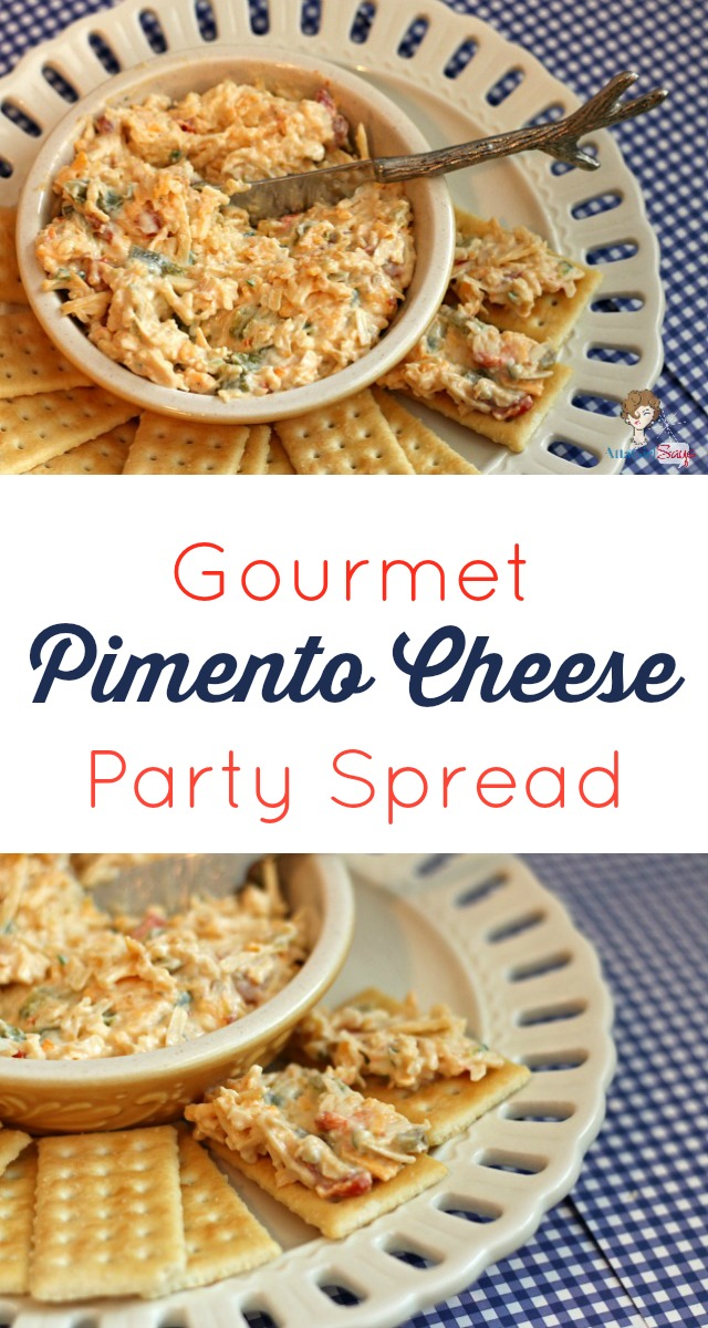 Made with three different kinds of cheese and roasted peppers, this pimento cheese party spread is delicious on crackers or on a sandwich. It has a sweet-heat kick thanks to the addition of honey and jalapenos. You'll love this fancy take on a simple salad spread.