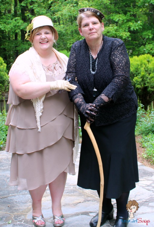 Amy and Suzy aka Edith and the Dowager Downton Abbey