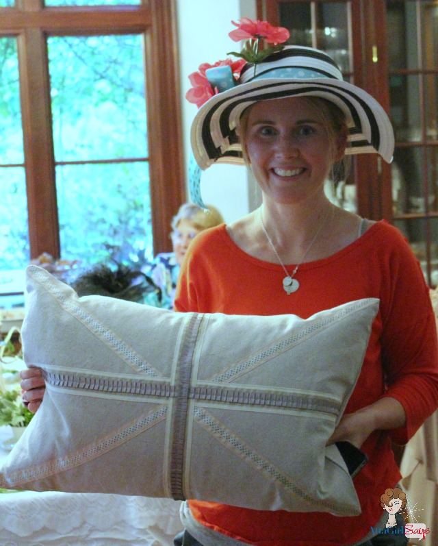 Danielle Wins Union Jack Pillow from Sew a Fine Seam
