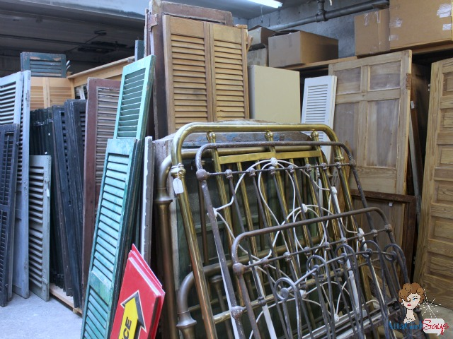 shutters and architectural salvage at Mary's Antiques Greensboro NC