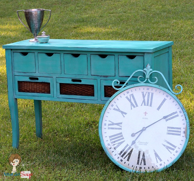 Atta Girl Says: Custom Handpainted Caribbean Blue Buffett