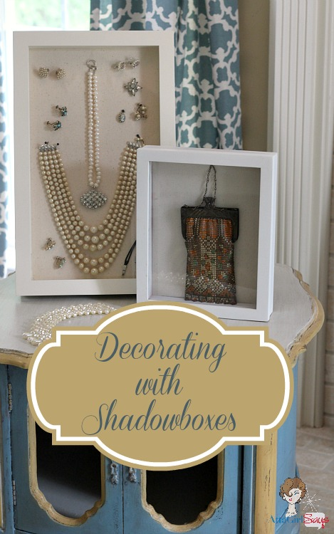 Decorating & Organzing with Shadow Box Frames