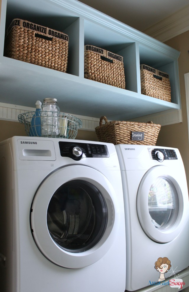 Atta Girl Says: Build Your Own Washer Dryer Laundry Pedestal with Storage