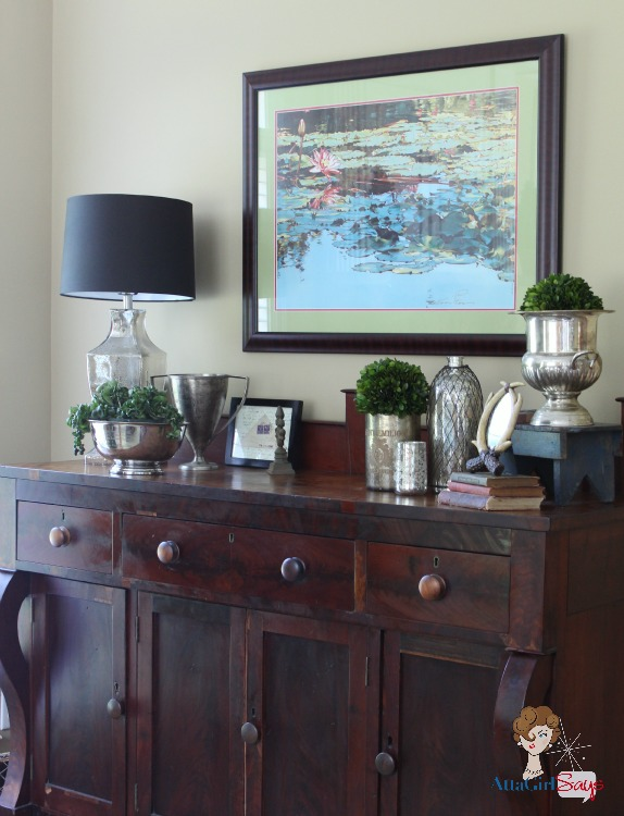Atta Girl Says: Empire Sideboard in Keeping Room
