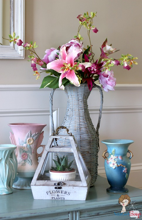 Atta Girl Says: Lilies and summer flowers in vase