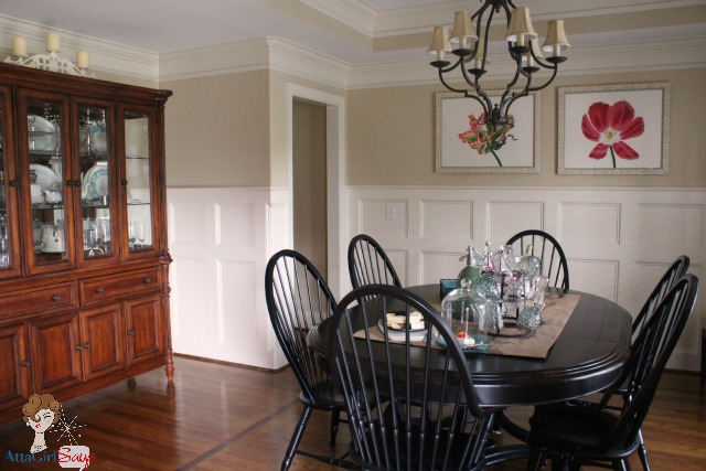 Atta Girl Says: Traditional Dining Room with Wainscoting