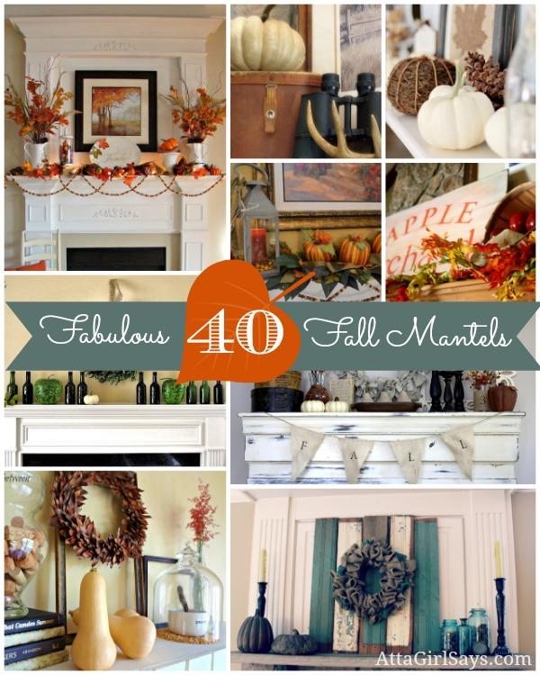 40 Fabulous Fall Mantels