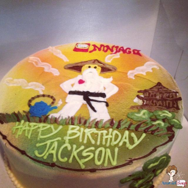 Lego Ninjago Sensei Wu Birthday Cake