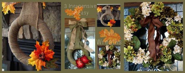 3 Easy and Inexpensive Fall Wreaths You Can Make