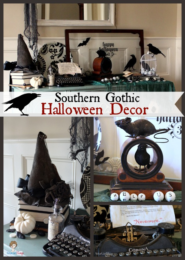 Southern Gothic Halloween Decorating Ideas from Atta Girl Says