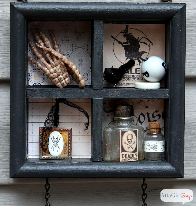 Halloween Cabinet of Curiosities 3D Sign