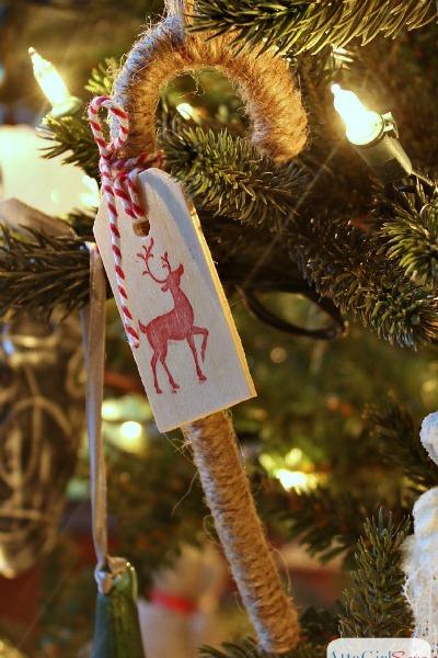 Twine Candy Cane Handmade Christmas Ornaments