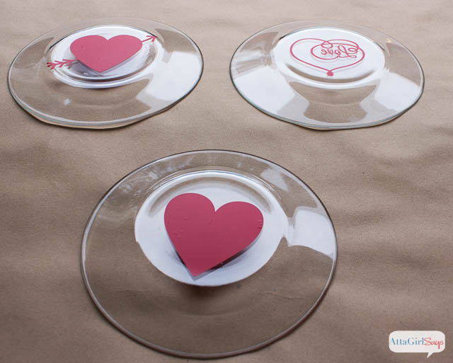 Romantic Valentine Craft Ideas: Gilded Heart of Gold Heart Plate