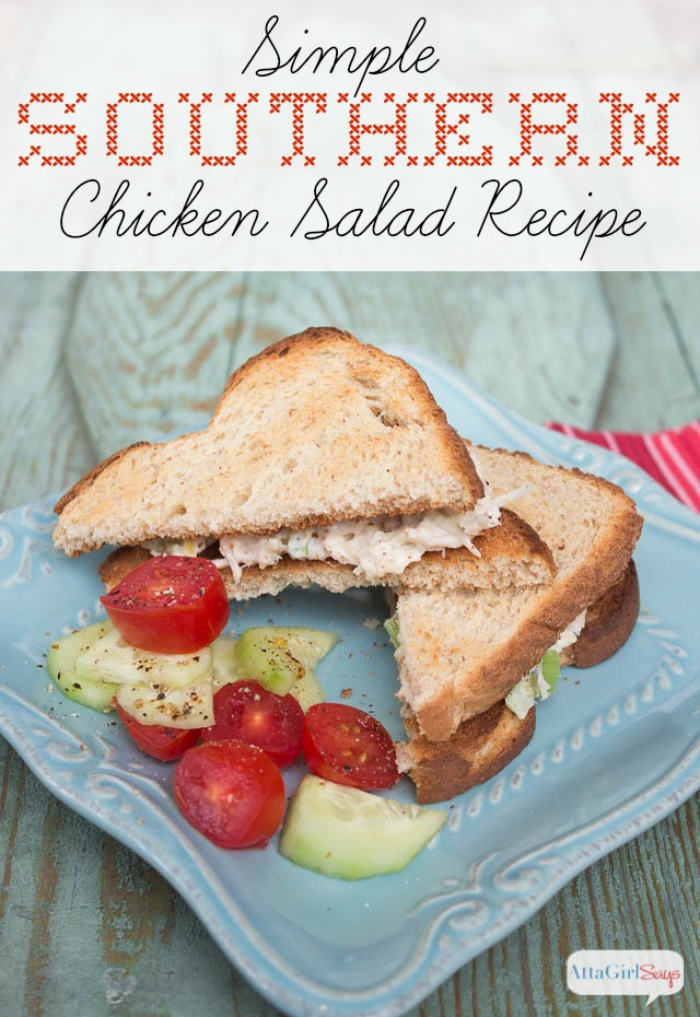 simple southern chicken salad recipe