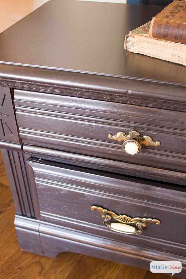 How to Paint Furniture with Martha Stewart Metallic Glaze