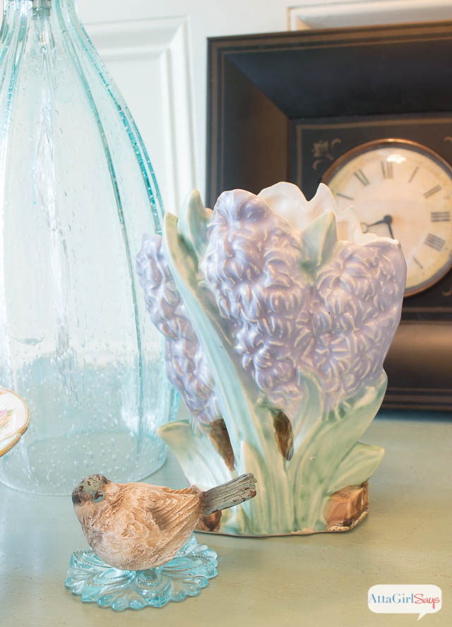 Spring Vignette inspired by my McCoy pottery collection