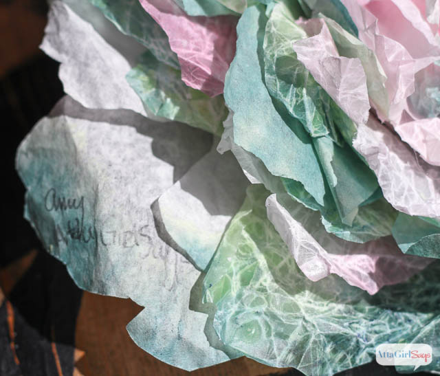 Coffee Filter Crafts: Learn How to Make these realistic cabbages out of coffee filters