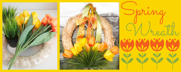Easy Spring Wreath Craft: Tulips in Grass