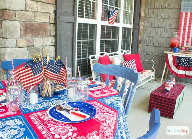 Memorial Day Patriotic Porch Decorations
