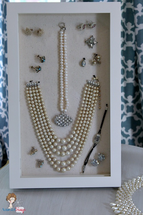 Decorate with Vintage Jewelry in Shadowboxes