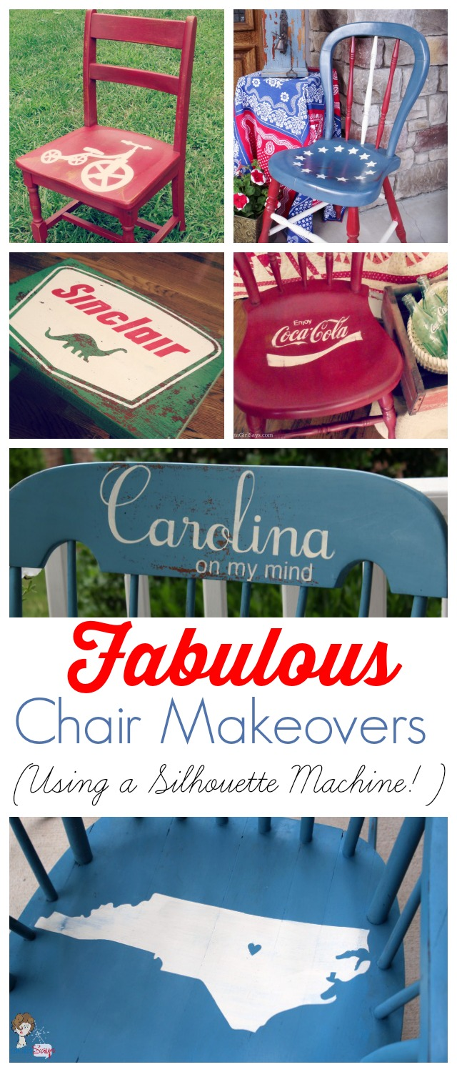 Painted Chairs: Makeover Old Wooden Chairs with Paint and Stencils