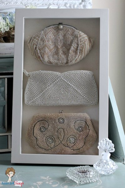 Shadow box frames are a great way to organize and display jewelry and other accessories. They're decorative and useful.