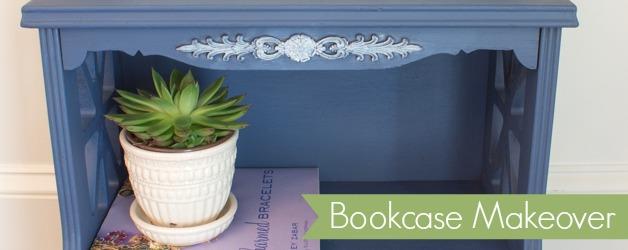 Indigo Blue Painted Bookshelf