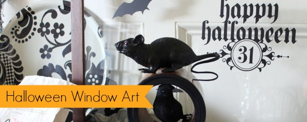 Use vinyl that you cut yourself (or buy precut decals) and use them to decorate old windows and cabinet doors for Halloween.