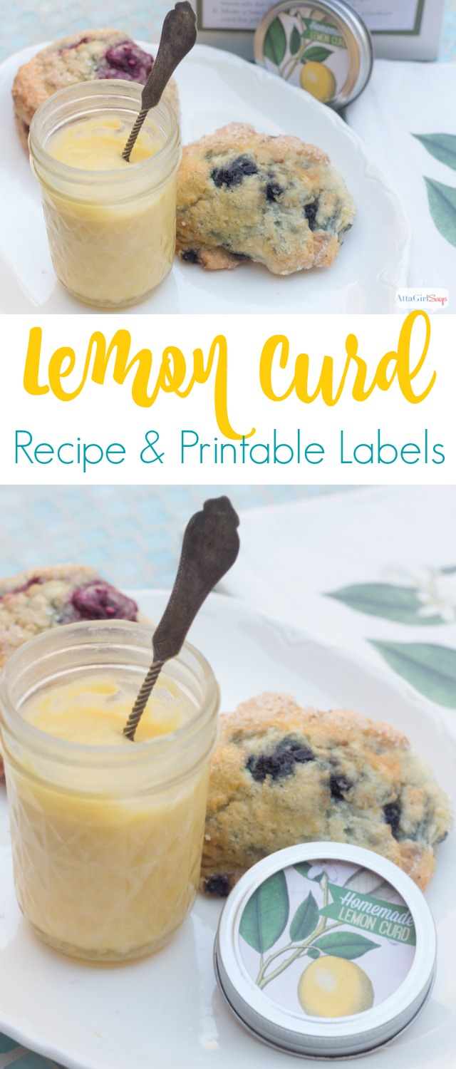 When life gives you lemon, make lemon curd! Whip up a batch of this easy lemon curd recipe for gifts, or keep the versatile and yummy spread all for yourself! Be sure to download the free printable jar labels and gift tags with lots of ideas for how to use lemon curd. #dessert #lemoncurd #foodgifts